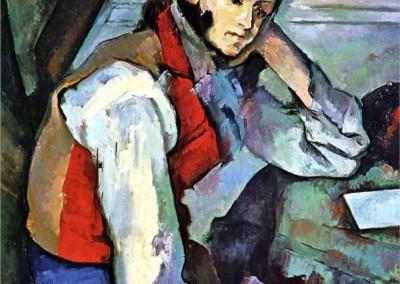 Chico con chaleco rojo (1889)