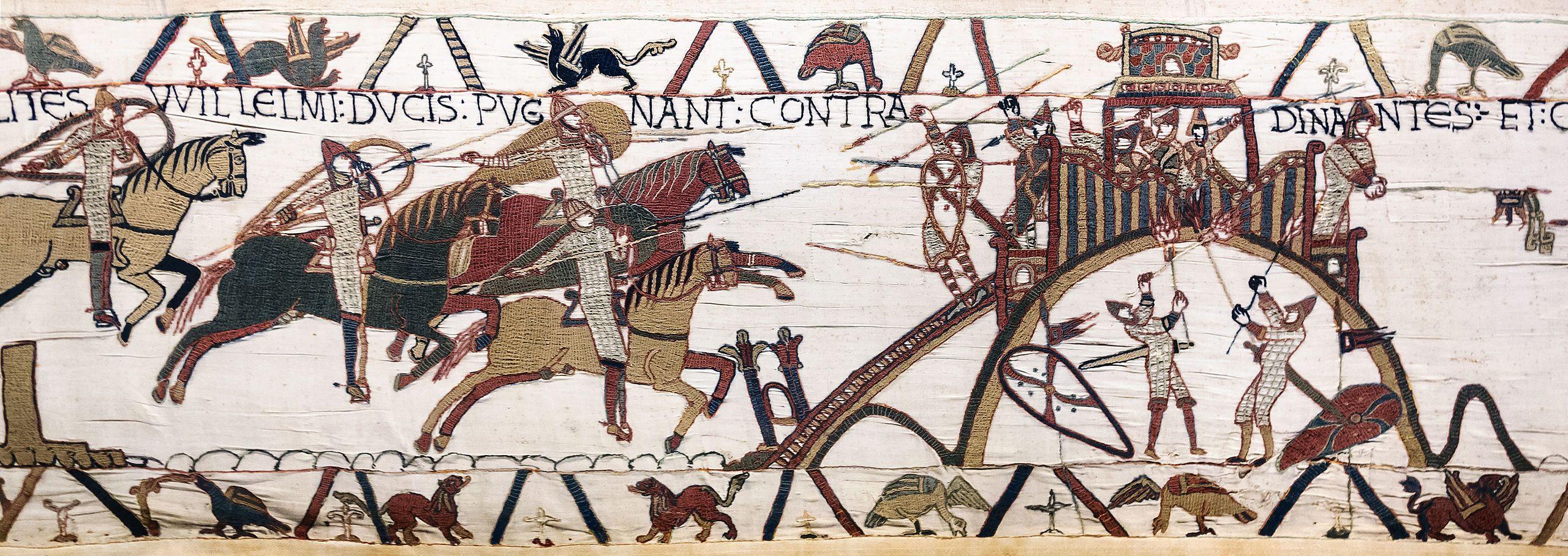 El tapiz de Bayeux, de 70 metros.