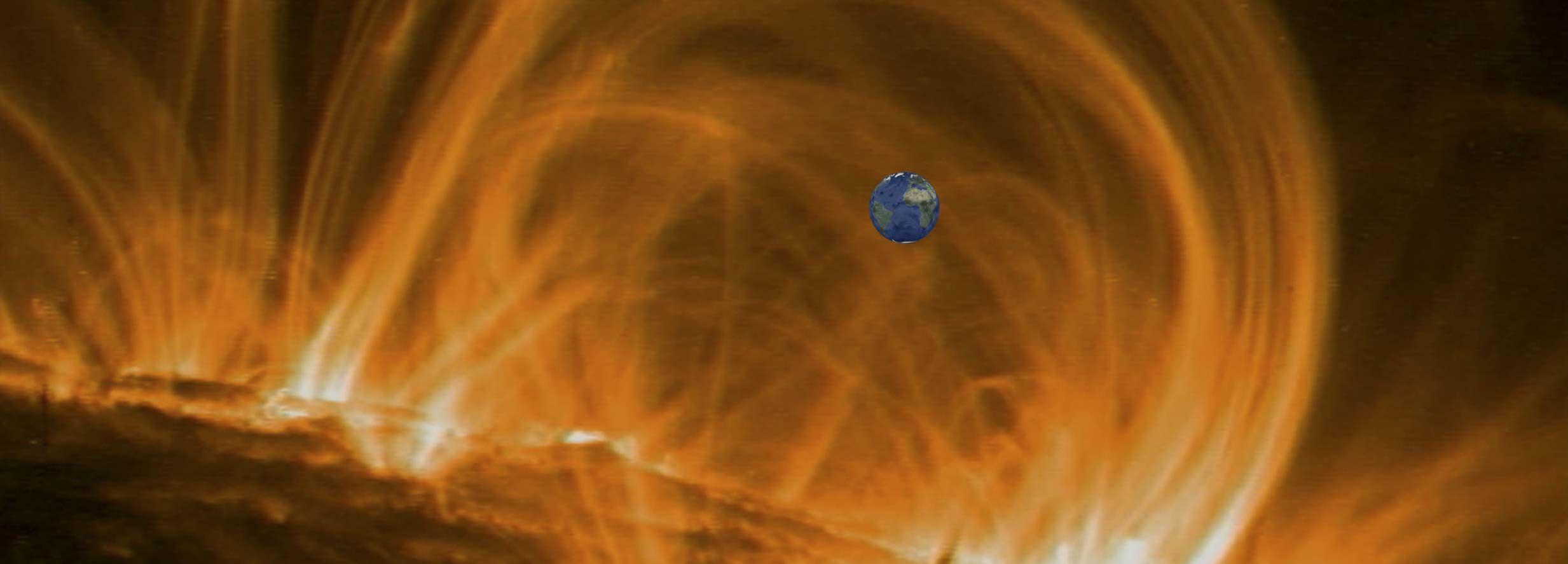Tamaños del sol y la tierra
