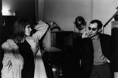 Anna Karina y Jean-Luc Godard