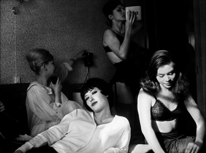 Anna Karina en el set de rodaje de Vivre sa vie