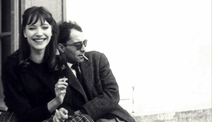 Jean-Luc Godard y Anne Karina en Paría