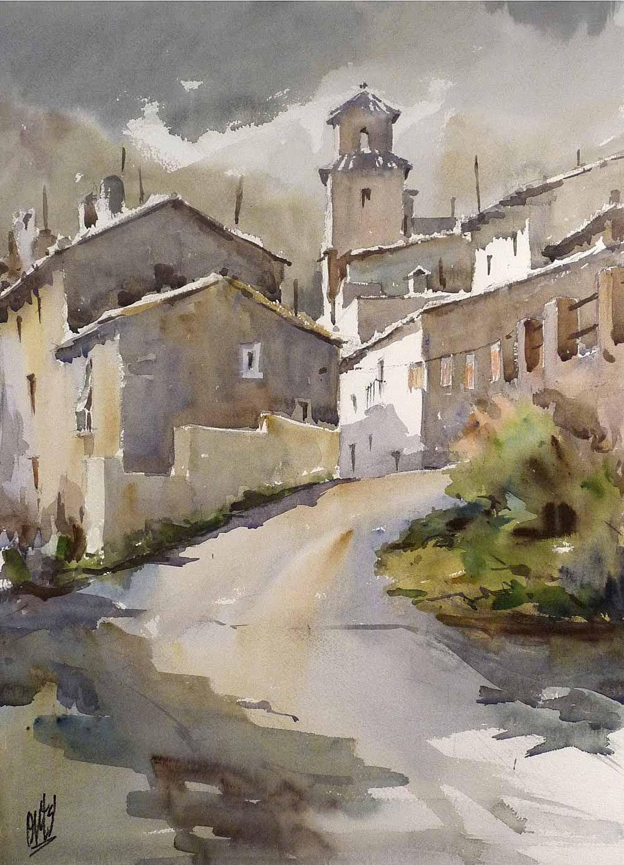 Entrada al pueblo, de Salvador Rodríguez-Bronchú