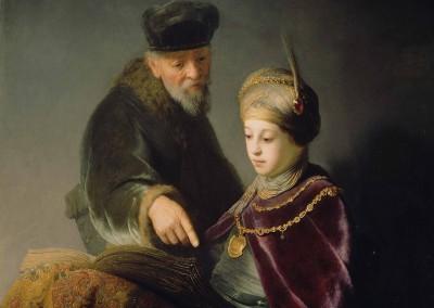 Joven alumno y su tutor (1630)