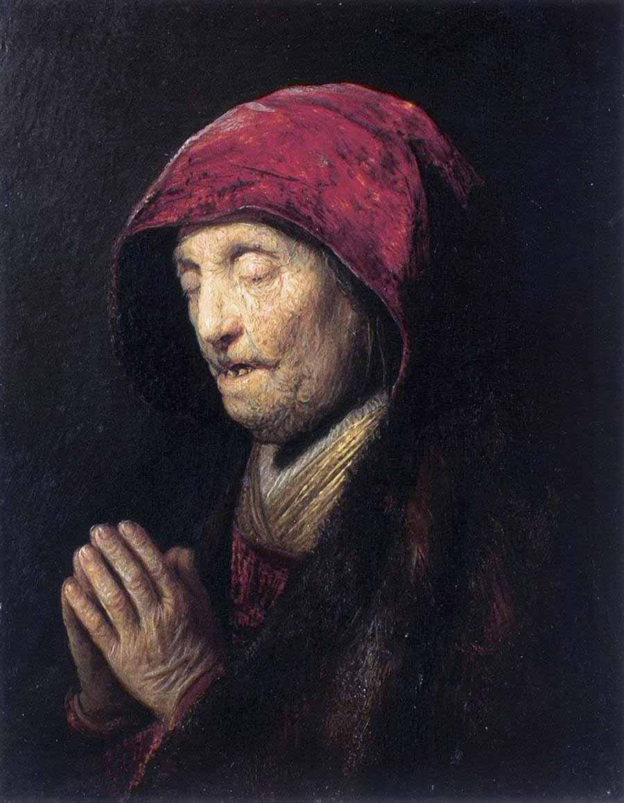 Vieja rezando (1629)