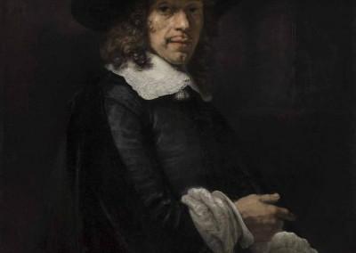 Retrato de caballero con sombrero alto y guantes (1658/1660)