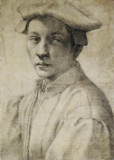 Estudio de retrato de Andrea Quaratesi - Miguel Ángel