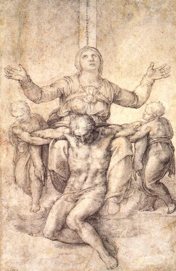 Estudio para la piedad de Colonna - Miguel Ángel