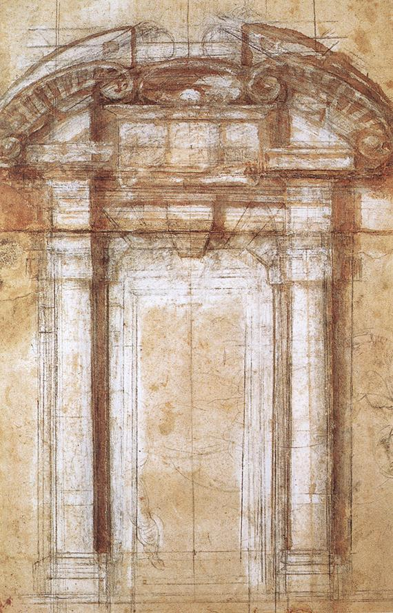 Estudio portada muralla de Adriano en Roma - Miguel Ángel