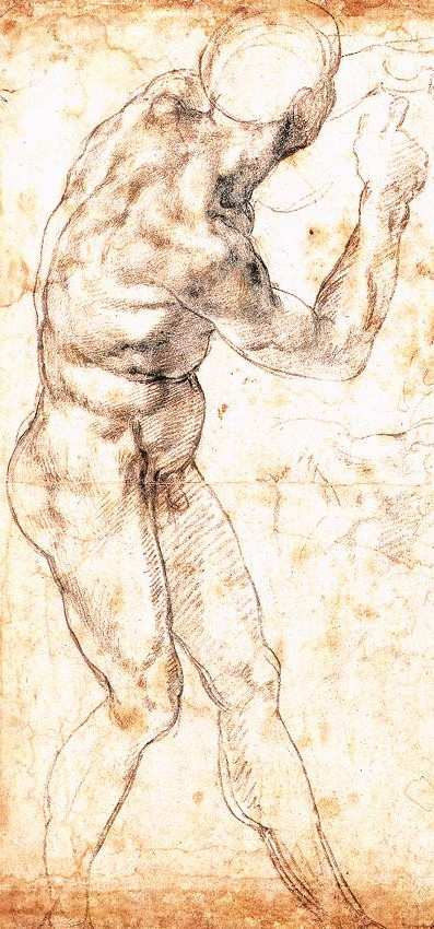 Estudio de figura para la batalla de Casquina - Miguel Ángel