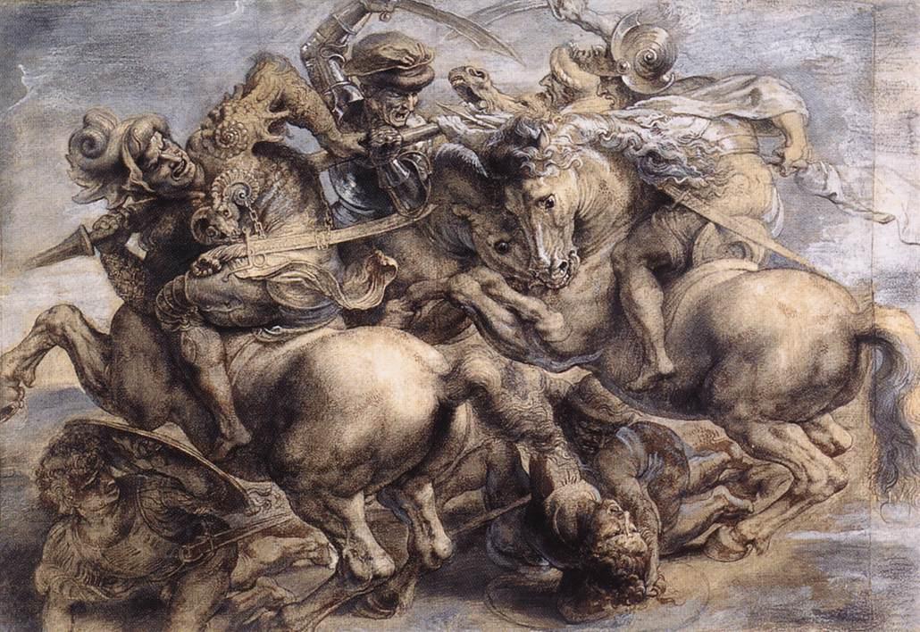 Batalla de Anghiari, de Leonardo
