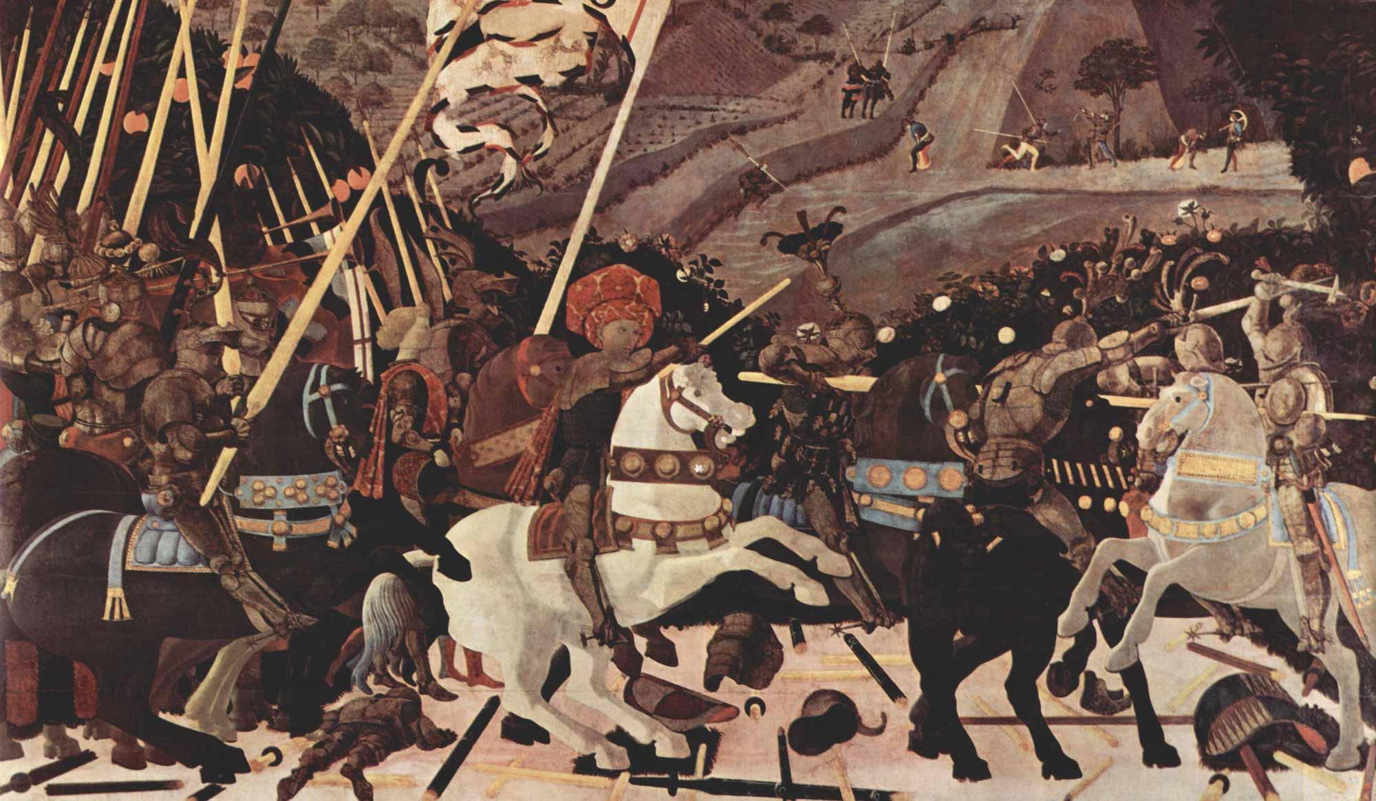 Batalla de San Romano, de Paolo de Ucello