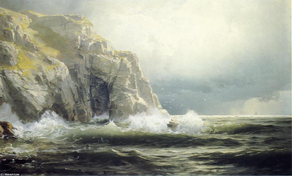 William Trost Richards. Guernsey Cliffs. Channel-Islands