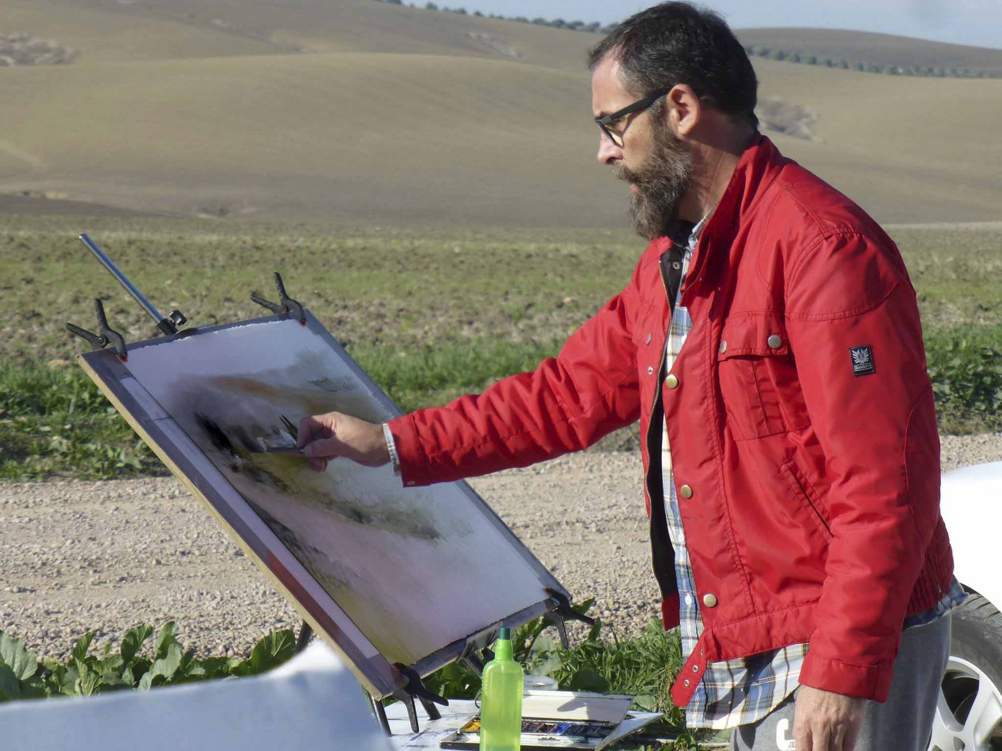 Antonio Ortega en la campiña cordobesa