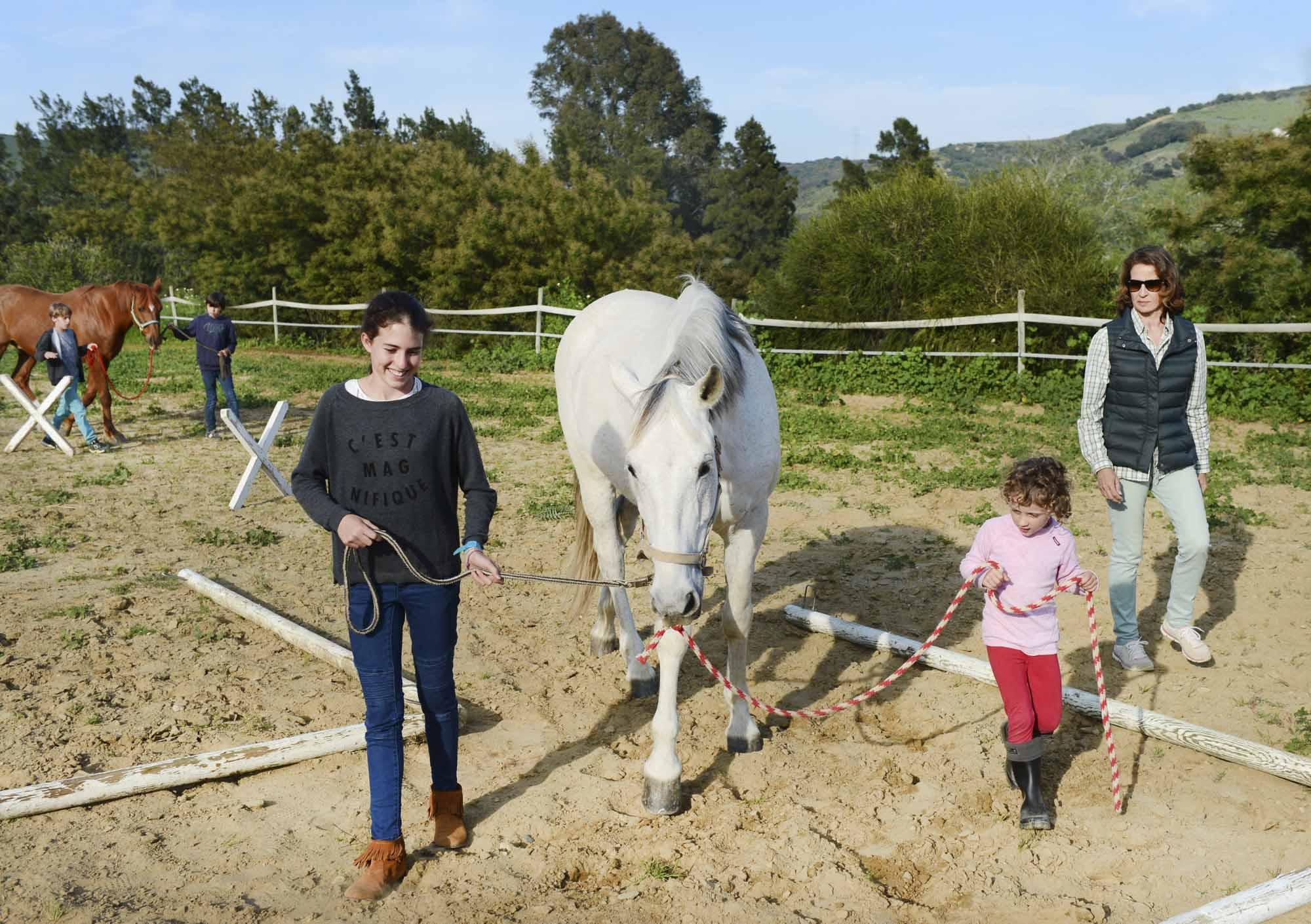 Coaching con caballos para niños