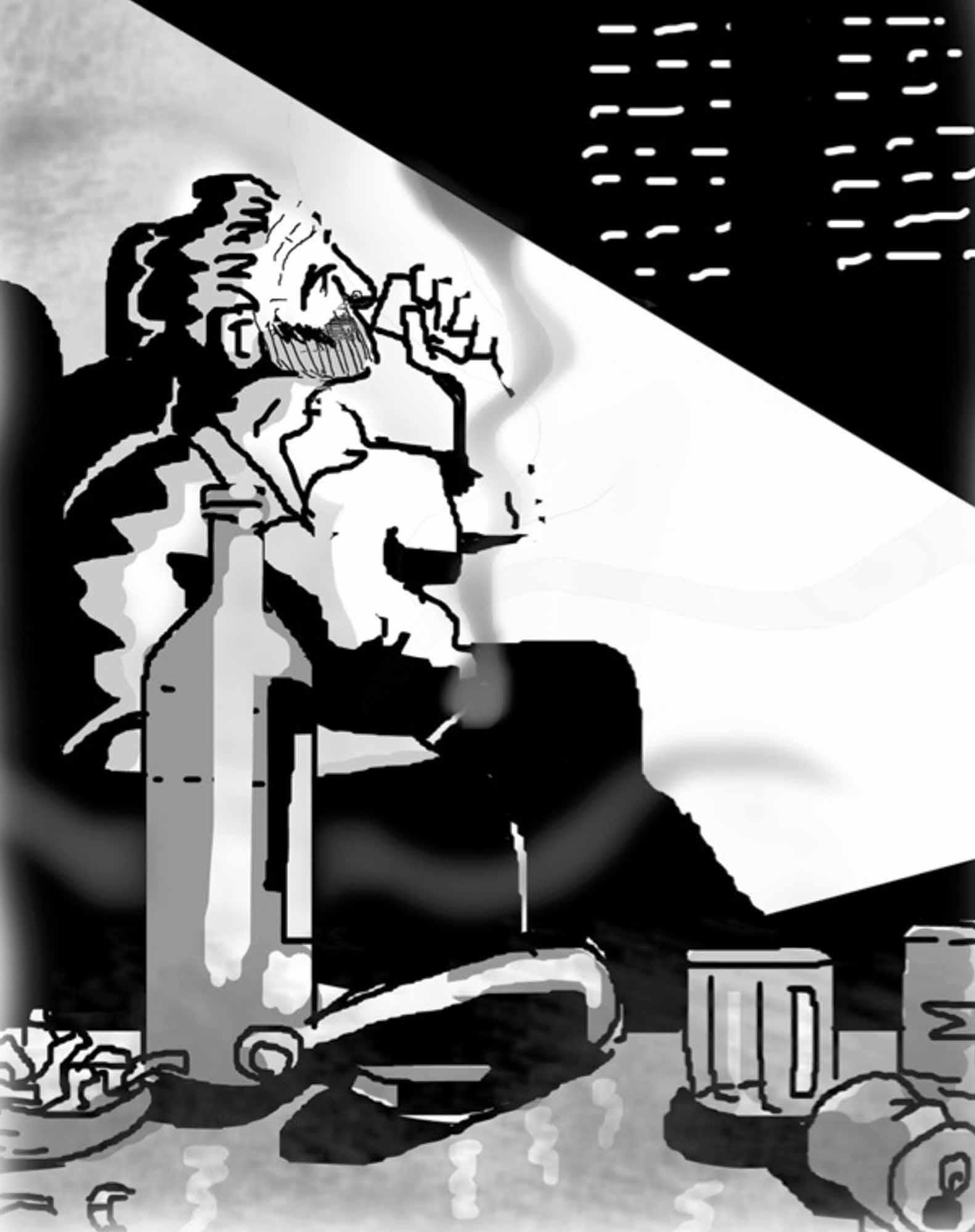 Ilustración de Enrique Oria para La agenda negra